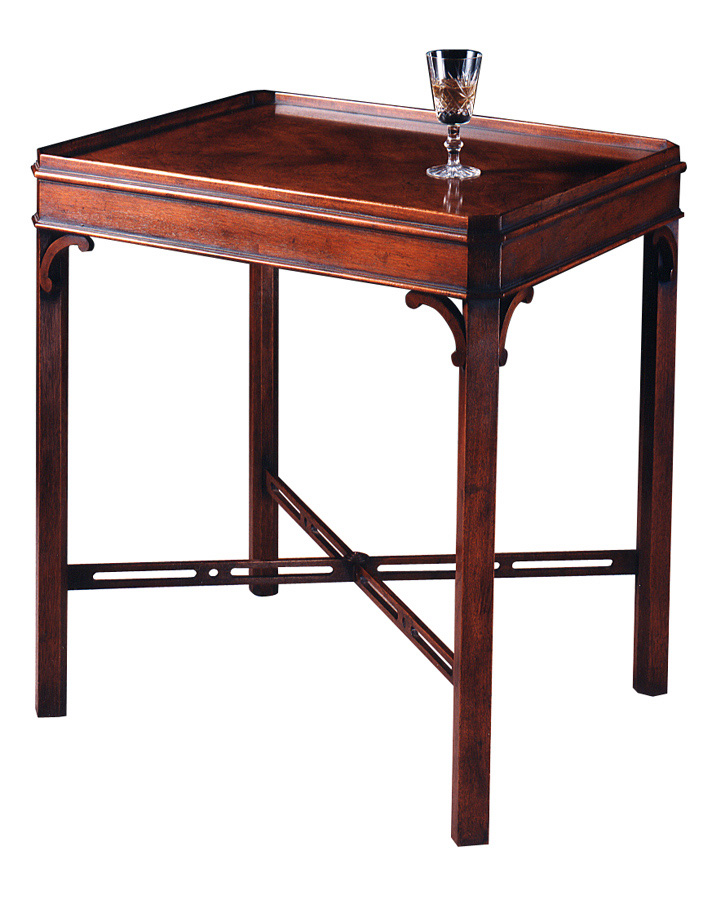 Chippendale Style Mahogany End Table.