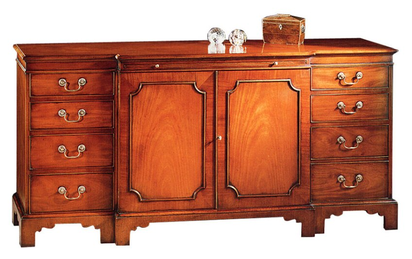 Chippendale Style Breakfront Credenza.