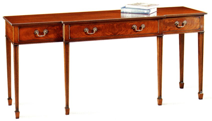 18th Century Style Breakfront Serving Table.