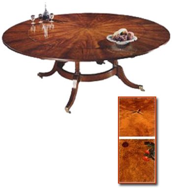 Radial Mahogany Extending Circular Table.
