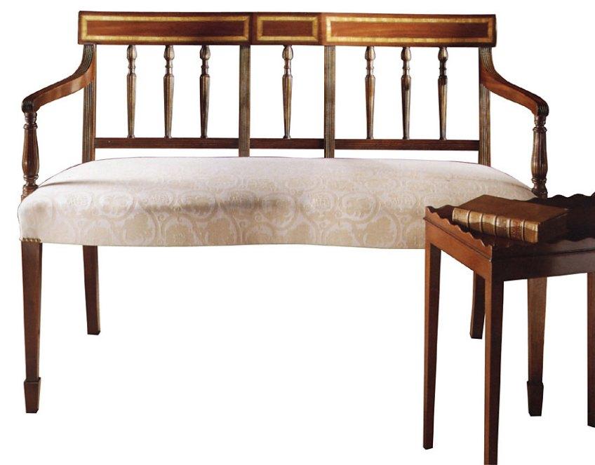 Mahogany Sheraton Style Chairback Settee.