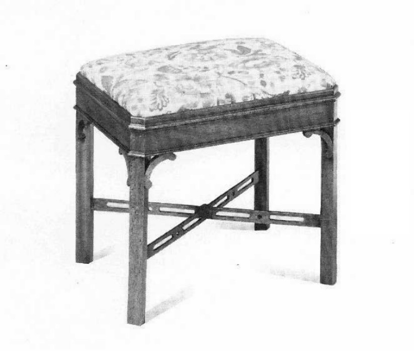 Chippendale Style Mahogany Stool.