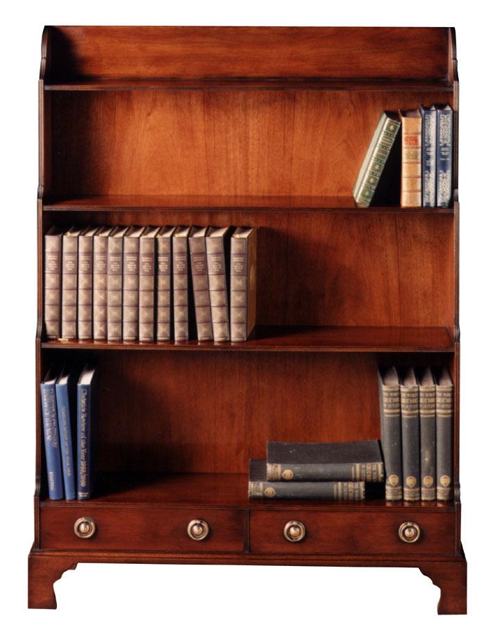 Georgian Mahogany Standing Open Bookshelf.