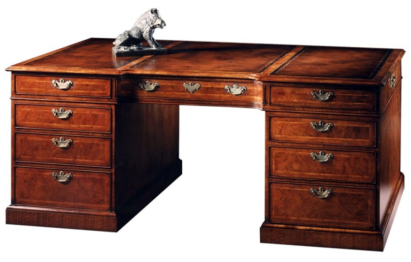Burr Walnut Partners Desk