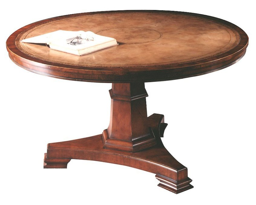 Mahogany Circular Table in the Regency Manner.