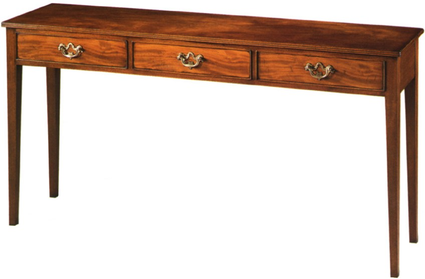 Mahogany Chippendale Style Console Table.