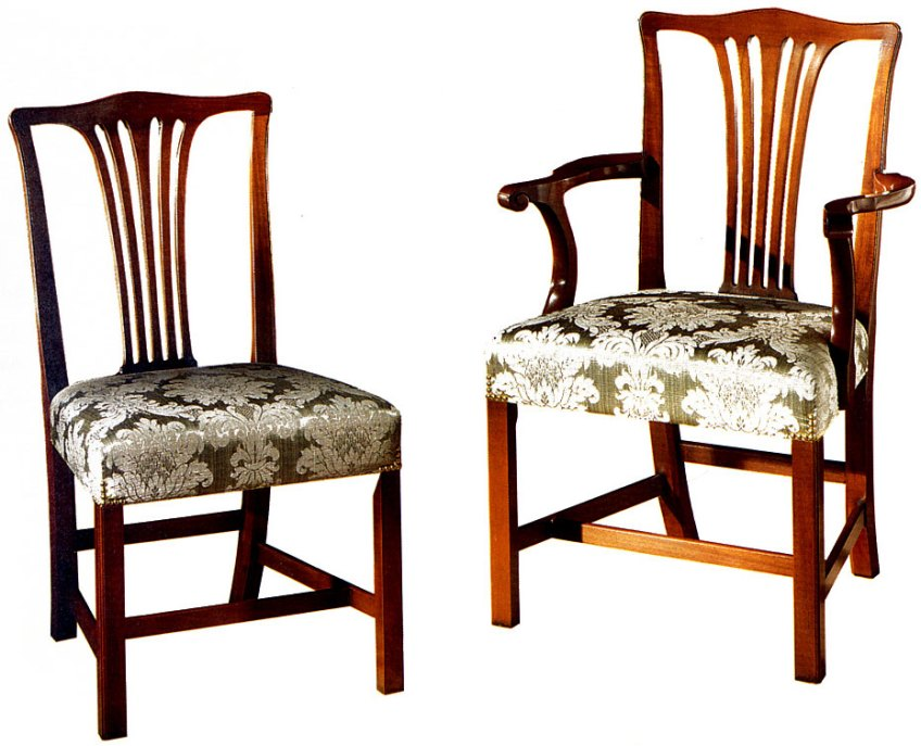 Country Chippendale Style Chair.