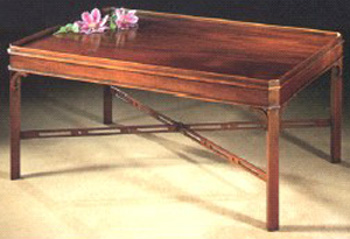 Mahogany Coffee Table in the Chippendale Manner.