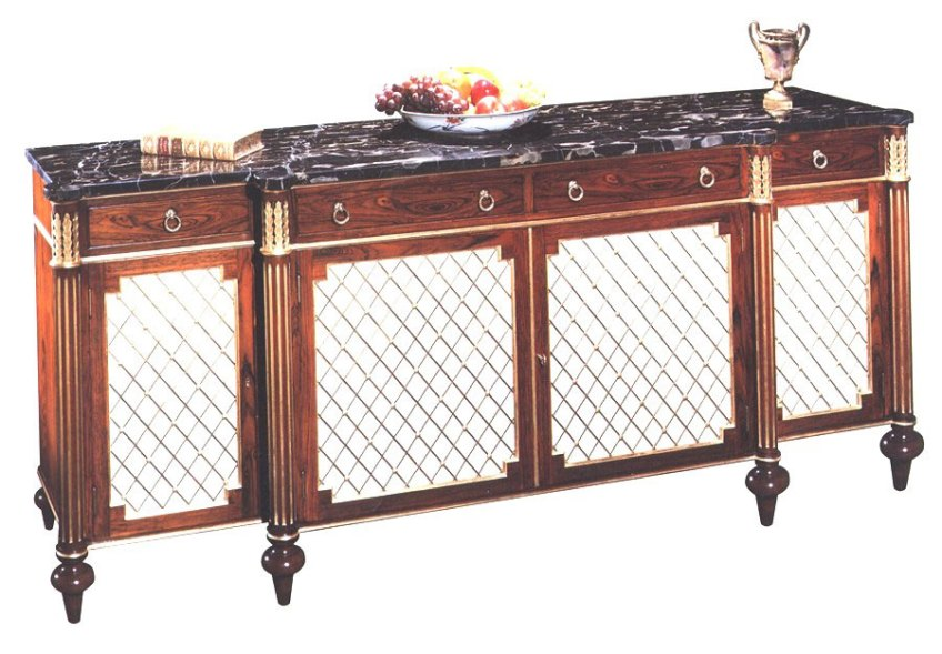 Regency Style Rosewood Credenza