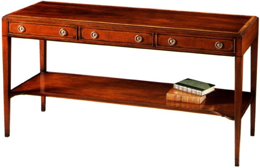 Mahogany Sheraton Style Console/Sofa Table.