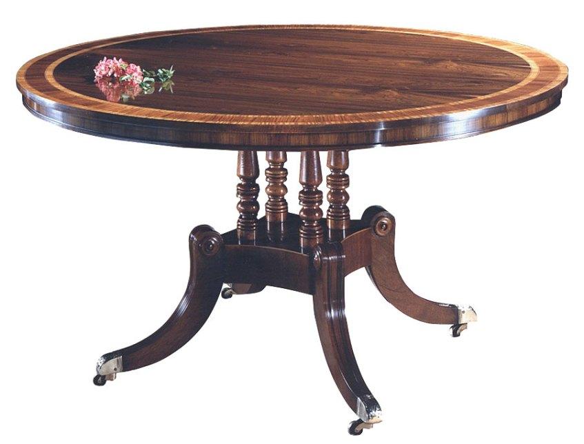 Rosewood Regency Style Extending Circular Table.