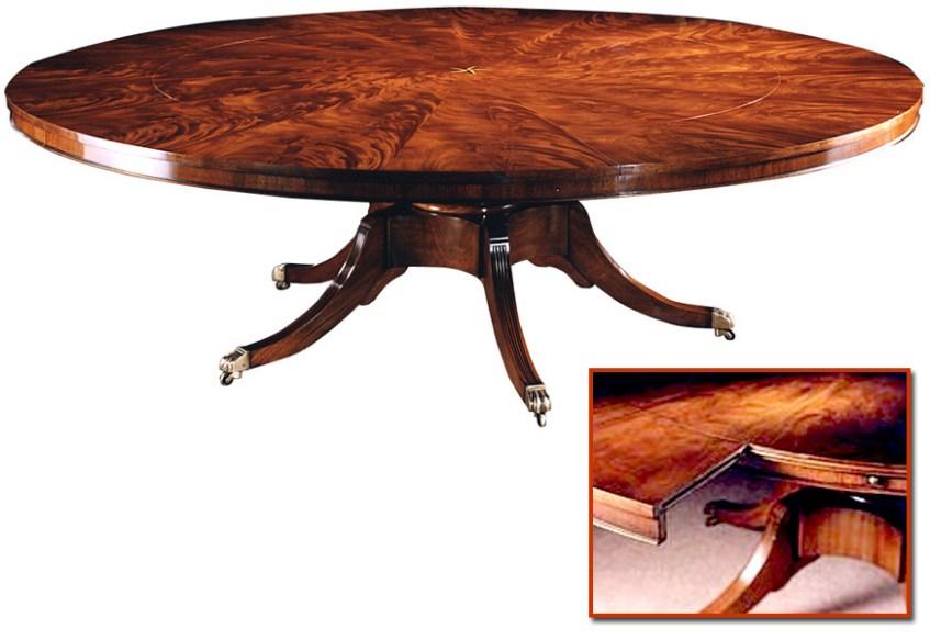 Regency Style Radial Mahogany Extending Circular Table