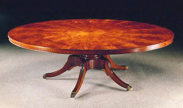 Mahogany Regency Style Round to Oval Extending Table