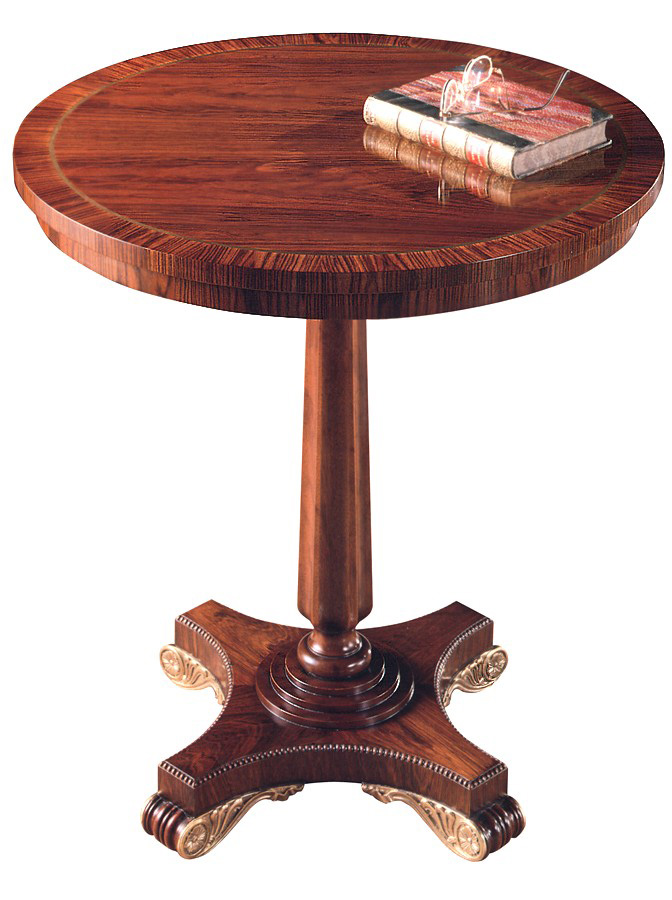 Regency Style Rosewood Occasional Table.