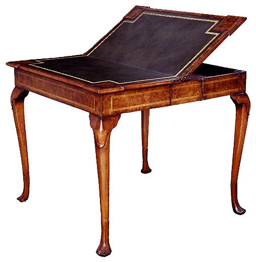 George II Style Walnut Folding Card Table