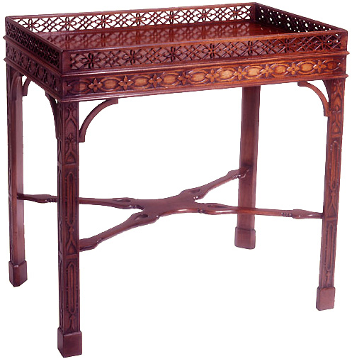 Mahogany Chinese Chippendale Tea Table.
