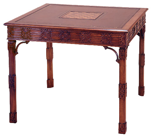 Mahogany Chippendale Style Game Table