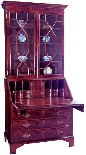 c688c8278187e Mahogany George III Bureau Bookcase