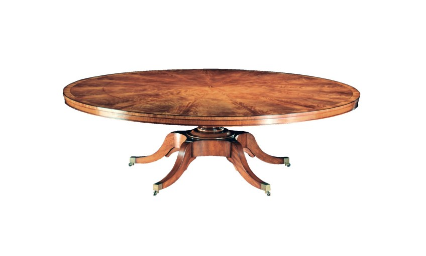 Round To Round Extending Mahogany Dining Table
