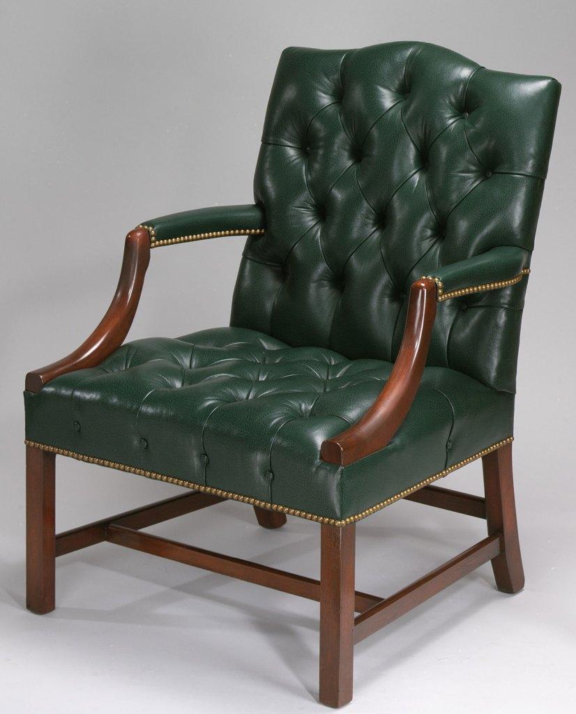 Georgian Mahogany Open Arm Chair.