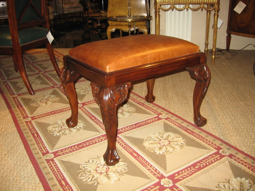 Ball & Claw Chippendale Style Mahogany Stool