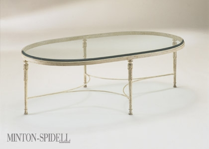 Oval Iron & Glass Table