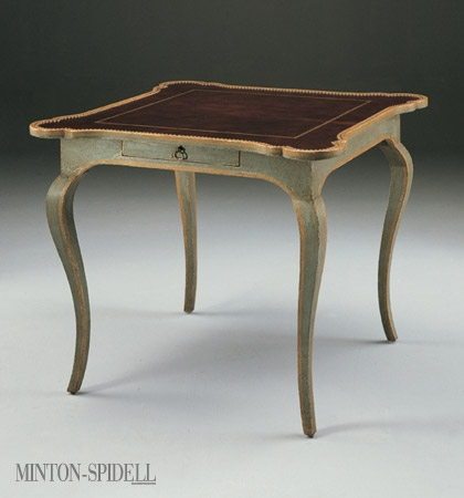 French Games Table w/Leather Top