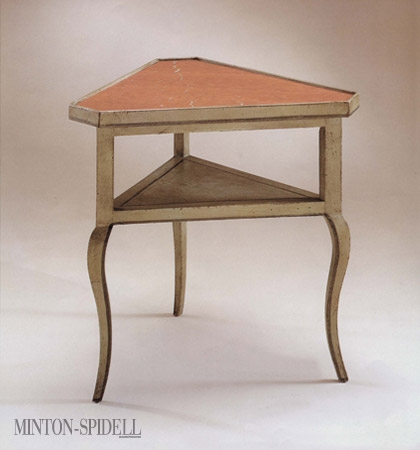 French Corner Table w/ Marble Top