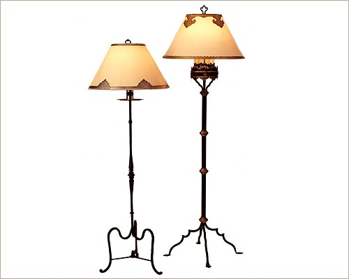 Portuguese Iron Floor Lamp