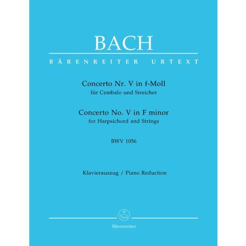 BARENREITER BACH J.S. - CONCERTO N°5 EN FA MINEUR BWV 1056 - CLAVECIN - Woodbrass.com