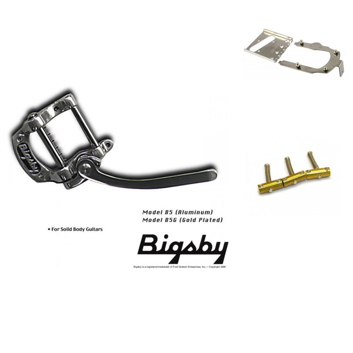 Bigsby Vibrato B5 Kit Pour Guitares Solid Body Flat Top