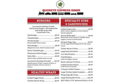 Buckeye Express Diner Menu