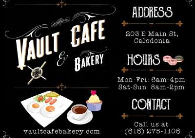 Vault Cafe Bakery Ad