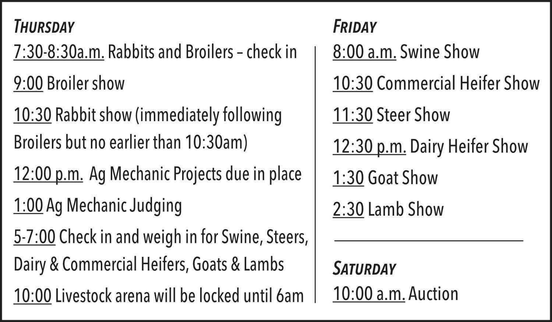County Livestock Show Set For April 4 6