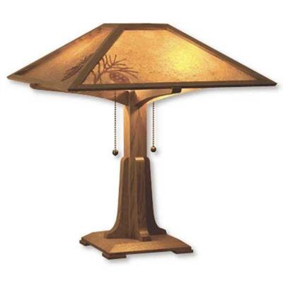 wooden table lamp plans