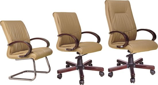 Bottom Office Wooden Seat Chair