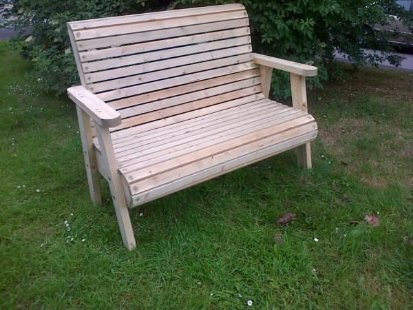 hardwood garden bench Roll Top Garden Bench | The Wooden Workshop | Oakford, Devon
