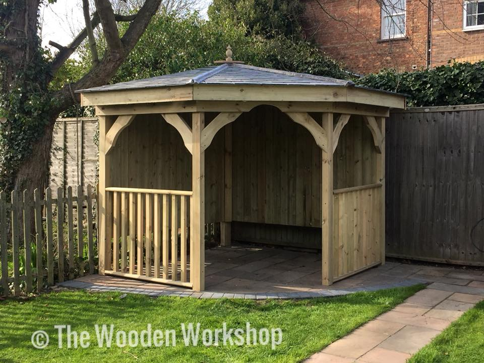Slate Corner Arbour The Wooden Workshop Oakford Devon