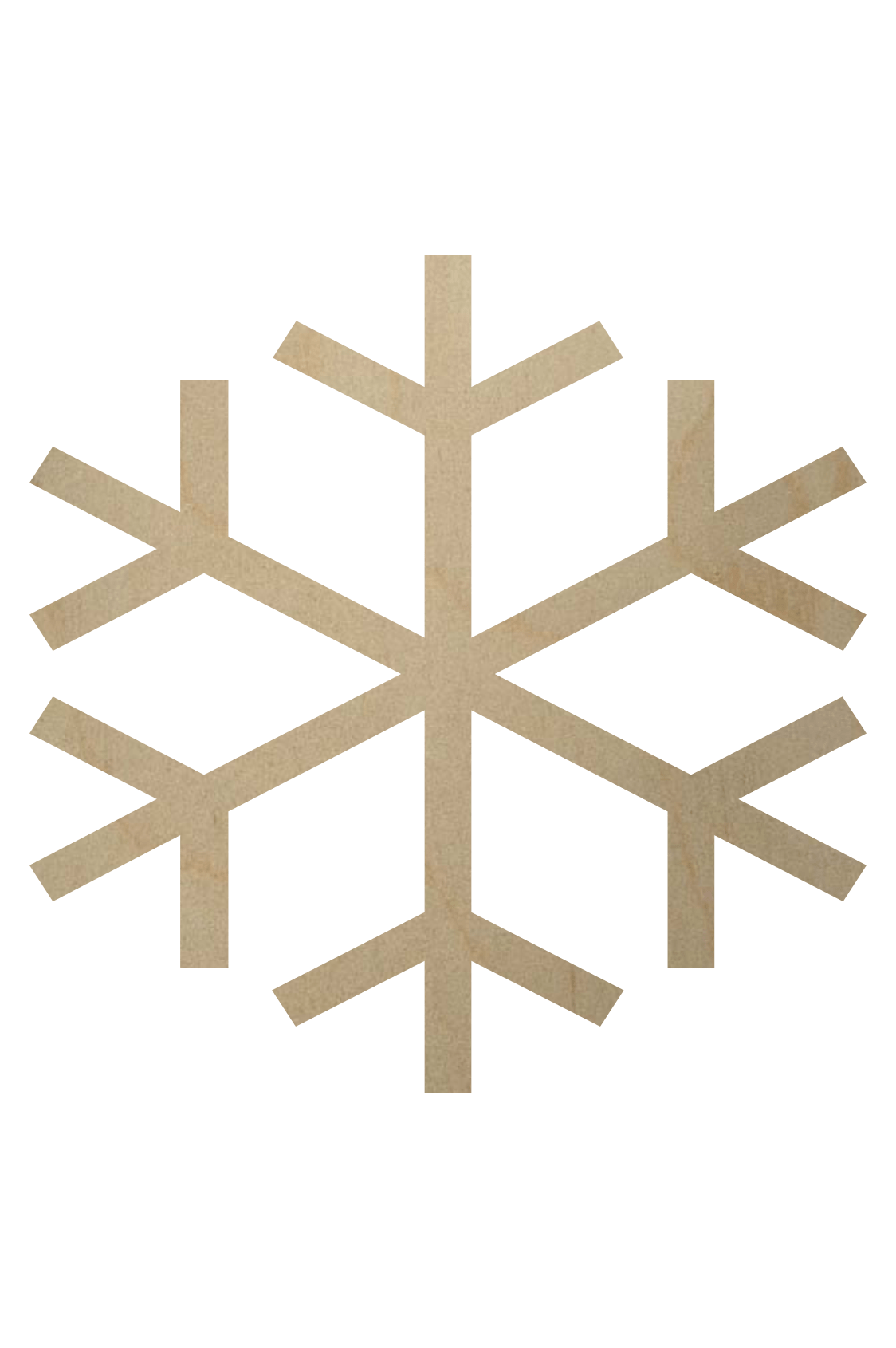 Wooden Snowflake Shape