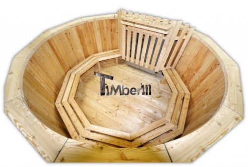 Wood burning hot tub deluxe model main