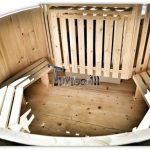 Wooden hot tub basic model made of siberian spruce and larch
