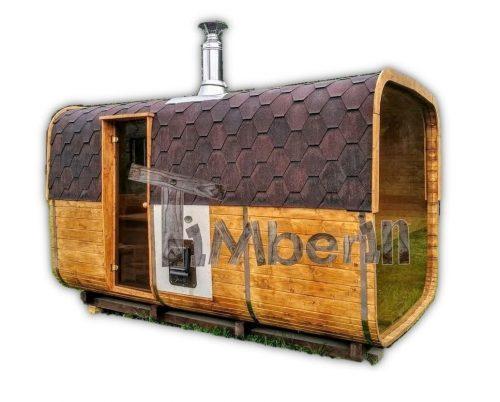 Rectangular Wooden Outdoor Sauna TimberIN Main