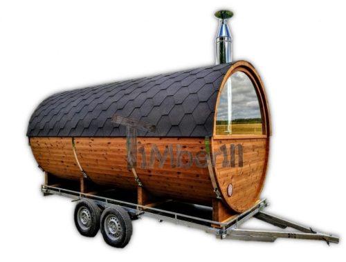 Mobile Outdoor Sauna With Dressing Room Harvia Wood Burner (39)