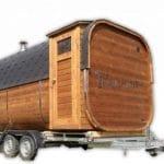Mobile Rectangular Sauna On Wheels