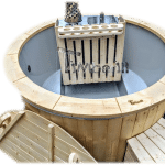 1600 Sunken Terrace Classic Hot Tub With Internal Wood Burner