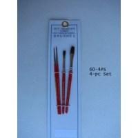 4 Piece Paintbrush Set - Short Handled