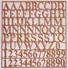 5650/01 Letters & Numbers, Height 6mm