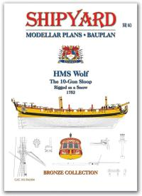 HMS Wolf Modellar Plans - Shipyard PM004