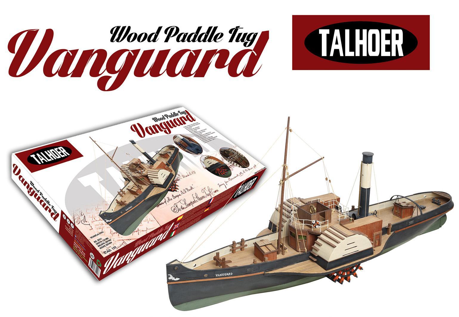 Boat Kits Product : Wooden paddle tug vanguard model ship kit by disar