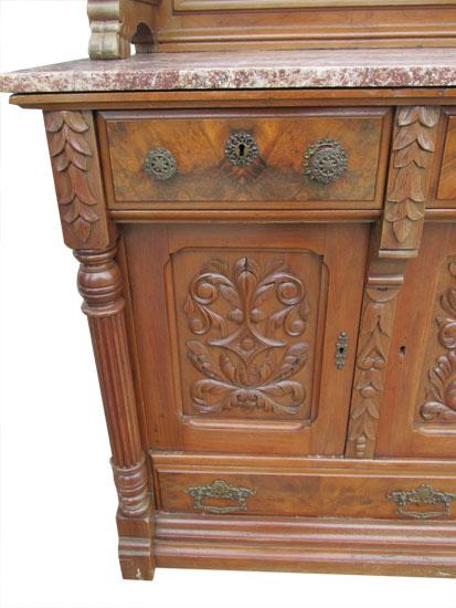 Eastlake Sideboard Wooden Nickel Antiques